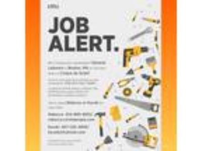General laborers needed asap