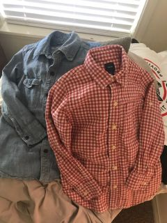 Boy s button downs by Gap Kids size S/(6-7)
