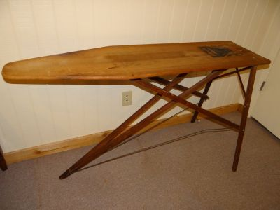 Antique wooden IRONING BOARD Rid-Jid brand - great condition