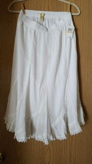 Rayon and Cotton white skirt by Studio West
