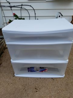 Plastic Container with 3 drawers .