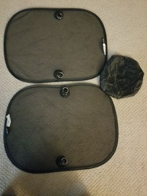 Window sunshade with storage pouch