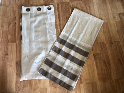 Two Sheer Curtain Panels 37x84
