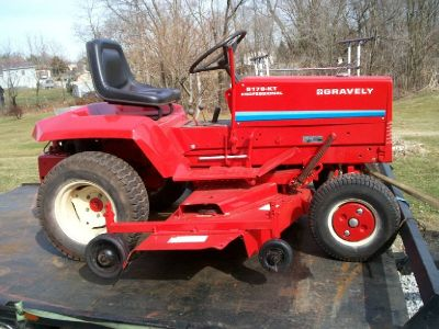 "8179 gravely tractor w/60"" mower deck"