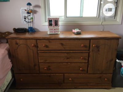 Free solid oak dresser comes with mirror not in picture) and armoire