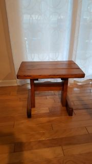 wood end side table