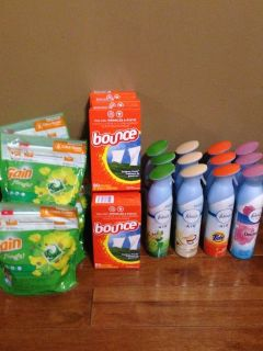 Gain / bounce laundry products / Febreeze air