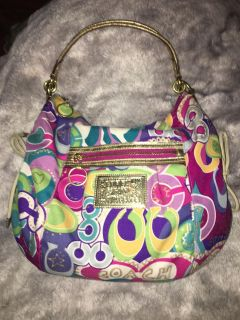 Authentic Coach purse Great for summertime colors