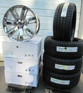 "Sell 22"" CADILLAC ESCALADE FACTORY STYLE CHROME 4 WHEELS RIMS BRIDGESTONE TIRES 4738 motorcycle in Walled Lake, Michigan, United States, for US $2,299.99"