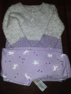 Cat & Jack little girls sweater and pants outfit size 6x