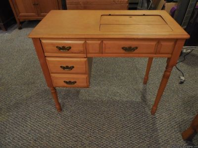 Sewing Machine Cabinet with Singer Head