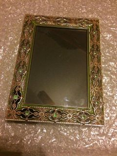 4X6 Hobby Lobby Picture Frame, Green/Turquoise/Golden Colours, BRAND NEW, MORE INFO