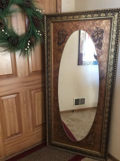 Vintage Antique Large Mirror (62.5 by 29.5)