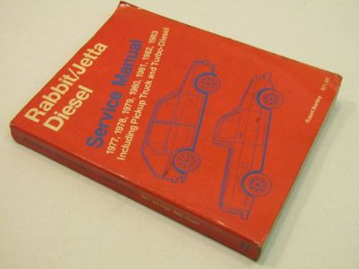 Purchase 1977 1983 VW Volkswagen Rabbit & Jetta Diesel Truck Turbo Repair Service Manual motorcycle in Bethpage, Tennessee, United States