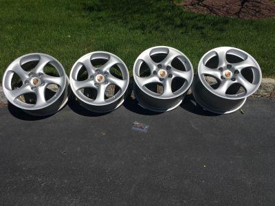 """Porsche OEM Hollow Spoke Turbo Twist 18"""" Wheels"""