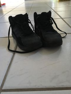 Black Adidas high tops size 2
