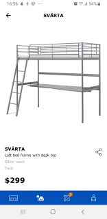 IKEA bed+table