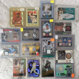 Cards: Game Used & Autographs - 17 Cards