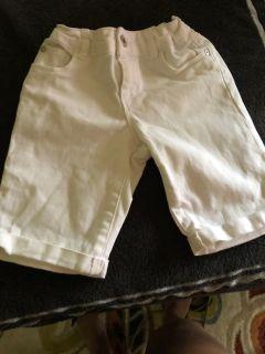 White Blue Jean shorts