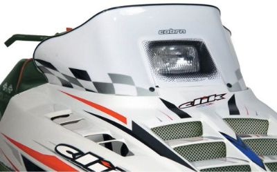 """Purchase POWERMADD/COBRA 11123 WINDSHIELD 11.5"""" WHT POL motorcycle in Plymouth, Michigan, United States, for US $96.85"""
