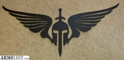 For Sale: Large 4ft Powder coated Spartan mask w/sword and wings for sale.