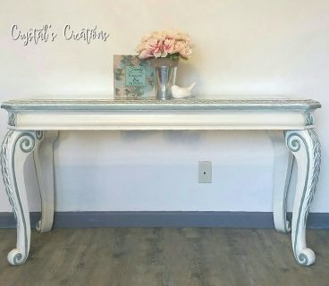 Glass top sofa/entry table