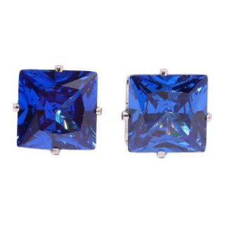 New - Square Blue Stud Earrings