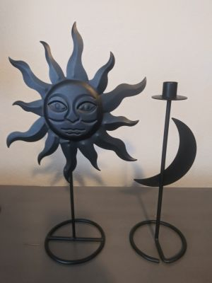Sun and Moon Candle Holder
