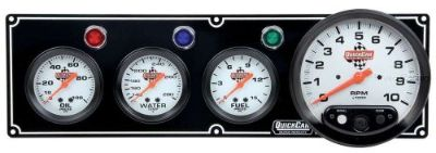 Find Quickcar 3 Gauge Panel w/ Tach Black Three guages Tachometer Water Temp Oil Fuel motorcycle in Lincoln, Arkansas, United States, for US $319.95