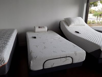 Adjustable bed and memory foam mattress special both $999.