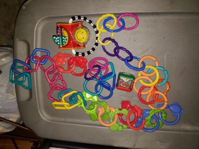 LOT OF baby toy links and rattles EUC price for all