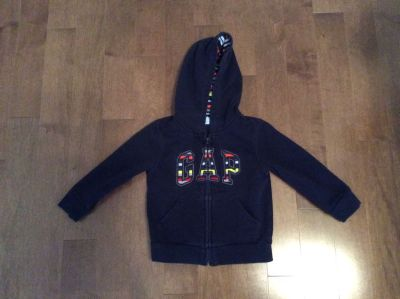 Gap 3T hoodie sweater bunny hug zip up