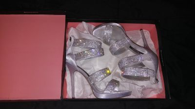 Siver studed high heels