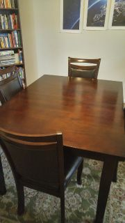 9 piece dark cherry transitional dining table