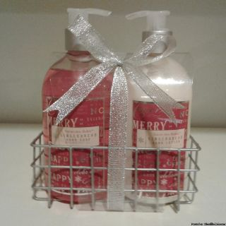 HOLIDAY HAND SOAP & LOTION GIFT SET W/ CADDY