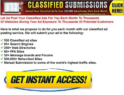Classified Submissions Affiliate Program