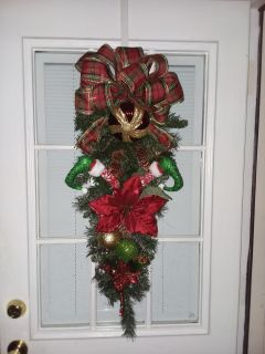 """36"""" 12"""" Christmas swag. Handcrafted"""
