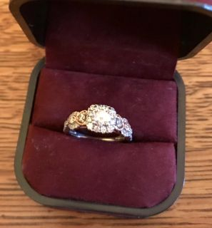 1 CTW INFINITY ENGAGEMENT RING 14KT SOLID GOLD