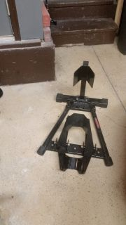 Trackside motorcycle stand-used