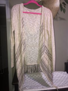 {PPU-White house} Maurice s xl cardigan hooded sweater *euc