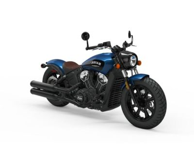 2019 Indian Motorcycle Scout Bobber Icon Series Brilliant Blue/Black Wet Sli