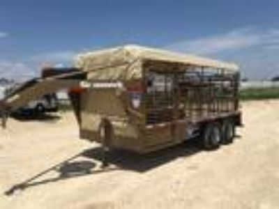 2018 Gooseneck 16 X 6'8 STEEL CATTLE TRAILER