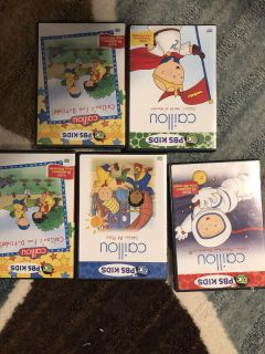 5 Cailou DVDs