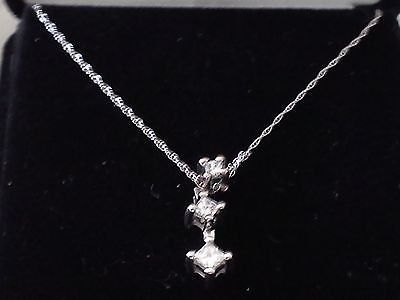 14kt White Gold and 1/3ctw Diamond Pendant w/Necklace