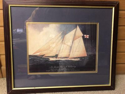 Sail boat picture good condition