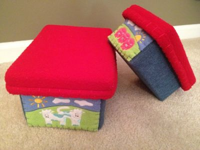 Kid's Fun Storage Fabric covered Boxes