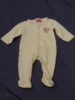 EUC lightweight footed pajamas size 0-3 months P/U ONLY