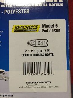 Buy Seachoice 97361 21-23' CENTER CONSOLE motorcycle in Cincinnati, Ohio, United States, for US $100.00