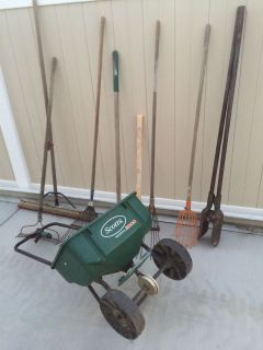 Yard tools and spreader all for $20