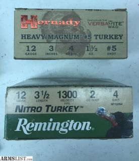 For Sale: 12 Ga Turkey Shells, Hornady and Remington